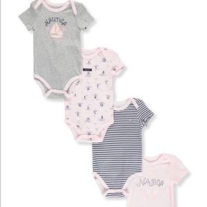 New! Baby girls 4 pack bodysuits